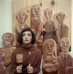 Maria Sol Escobar (born May aka Marisol, is a sculptor born in Paris of Venezuelan lineage, working in the New York City. Marisol Escobar, Found Object Art, Mystique, Arte Popular, Art Archive, Abstract Expressionism, Artist At Work, Great Artists, Art History