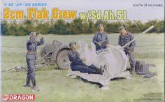 Model Dragon 6368 2cm FLAK CREW w/Sd.Ah.51