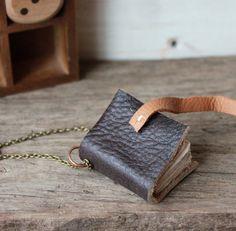 handmade book necklace.