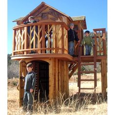 Drooling over these awesome fort/treehouse ideas!  Someday, when the little ones are older...