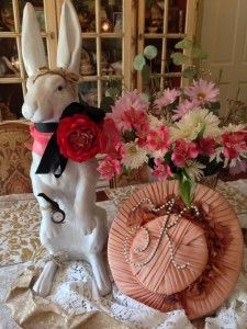 """""""Springtime Whimsy Table Centerpiece"""" (Vintage Hat is Perfection!)"""