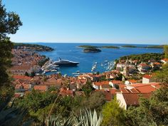 Stunning view of the Croatian coastline, with distant islands bathing in the Adriatic Sea. Isn't it gorgeous?