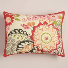 One of my favorite discoveries at WorldMarket.com: Floral and Geometric Darby Pillow Shams, Set of 2