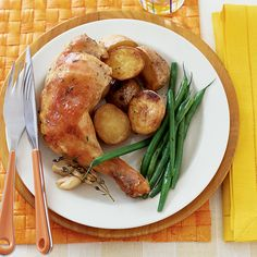 Chicken Braised with Lemon and Garlic | Food & Wine