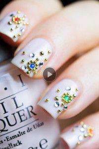 bling nail art design
