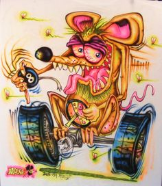 JOHNNY ACE BIG DADDY Roth Rat Fink MOUSE Flypogger MONSTER Shirt DRAG Race SHIFT #JohnnyAceStudiosEdBIGDADDYRothMOUSE