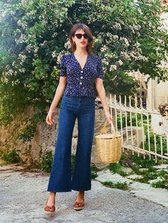 Best basket bags: Jeanne Damas with Jane Birkin bag