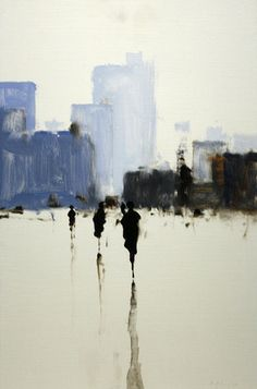 Study in Blue, 2013, by Geoffrey Johnson