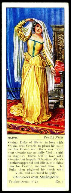 Typhoo Tea Card - Olivia ~ Twelfth Night by cigcardpix, via Flickr
