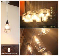 Industrial and jar Lights DIY Inspiration
