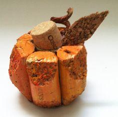 Small cork pumpkin
