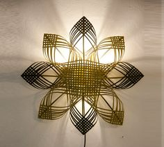 shining star - wall décor lighting, housewarming gift, cool  colors op Etsy, 105,96€