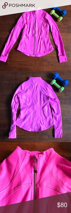 Lululemon 🍋 Jacket Lululemon 🍋 Jacket Hot Pink. Size 10 and in good condition. lululemon athletica Jackets & Coats