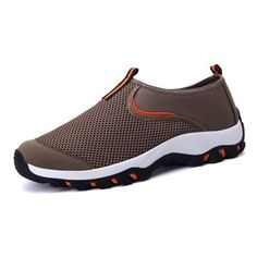 Fashion Men Breathable Mesh Fabric Shock Absorption Outdoor Sport Sneakers - NewChic Mobile
