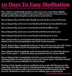 10 Day Meditation...mind health