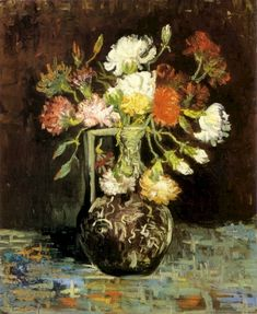 Vincent van Gogh: The Paintings (Vase with White and Red Carnations). Paris: Summer, 1886