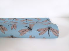"""Gift Wraps - Papeterie. Wrapping paper """"Dragon Fly"""", size 50x70 cm, printed on high quality recycled paper. 2,50 € incl. VAT plus shipping costs."""