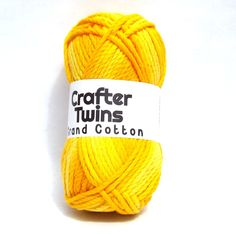 Crafter Twins Grand Cotton yarn in yellow