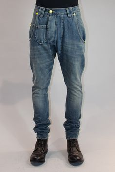 droopy washed denim - LOVE DENIM