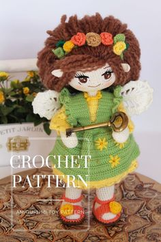 Crochet Doll Pattern, Crochet Toys Patterns, Amigurumi Patterns, Stuffed Toys Patterns, Amigurumi Doll, Crochet Dolls, Doll Patterns, Crochet Designs, Crochet Fairy