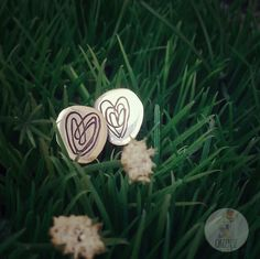 Pendientes corazón caligráfico de plata  Silver earrings