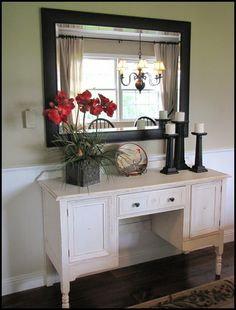 distressed with paint and glaze I'm so doing this to some furniture at the house!