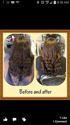 Before and after by Jessica! The rich, chocolate brown ...