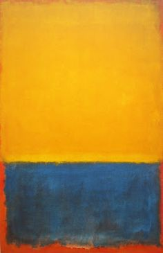 "tapestry/wall hanging inspiration __ Mark Rothko -- Yellow and Blue, 1955, 102"" x 67"""
