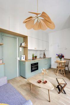 Studio Levallois-Perret: a redesigned 22 suburb of Paris - # . - Studio Levallois-Perret: a 22 suburb of Paris redesigned – # - Interior Desing, Interior Decorating, Kitchen Interior, Kitchen Decor, Küchen Design, House Design, Studio Kitchen, Apartment Design, Small Apartments