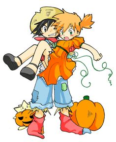 Beautiful ❤ Pokeshipping ❤ #Halloween
