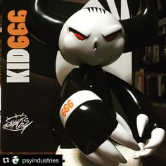 If I had to pick a favorite designer toy this would be the one. Kid666. I don't know where @psyindustries got these but they are CLASSICS in my opinion and you'd be nuts not to add one to your collection. #Repost @psyindustries with @repostapp  http://ift.tt/1FQBmIu LIVE NOW! Only 10 available.