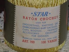 Back of Star Rayon Crochet