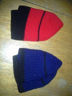 2 adult crocheted hats Crocheted Hats, Beanie, Knitting, Projects, Knitting Hats, Log Projects, Crochet Hats, Blue Prints, Tricot