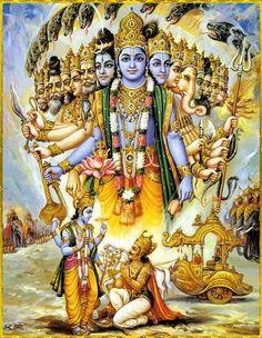 Lord Krishna - Cosmic form as shown to Arjuna in Kurukshetra before the Mahabharat.