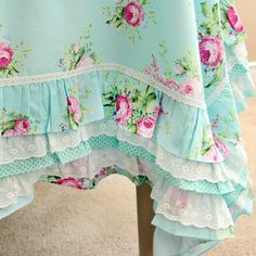 Hey, I found this really awesome Etsy listing at https://www.etsy.com/listing/226895129/green-ruffle-rose-lace-tablecloth