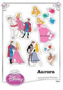 Figuras imprimibles de Princesa Aurora   Princesas Disney