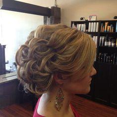 Pretty pin curl updo