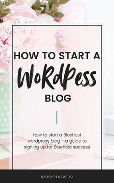 How to Start A WordPress Blog - Blogpreneur Domain Privacy, Price Plan, Start Writing, Best Web, Blogging For Beginners, Wordpress, Teaching, How To Plan, Teaching Manners