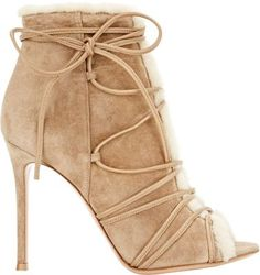 Gianvito Rossi Shearling-Lined Aspen Booties at Barneys New York