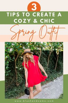 Spring is just around the corner and today I want to share with you 3 tips to create the perfect cozy and chic spring outfit! These 3 fashion elements will help you put together a fun, feminine look that will be perfect for those weekend vibes! Let's get styling! #chiclook #stylingtips #springstyle #cozystyle