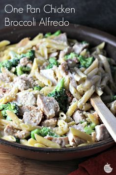 One Pan Chicken Broccoli Alfredo is a quick weeknight meal option the whole family will enjoy. Tender grilled chicken breast strips, penne pasta, and fresh broccoli are coated in a cheesy white sauce in this effortless meal. Recipes Using Pasta, Recipe Using Chicken, Chicken Pasta Recipes, Grilled Chicken Tenders, Chicken Broccoli Alfredo, One Pan Chicken, Cheesy Sauce, Quick Weeknight Meals, Easy Healthy Recipes