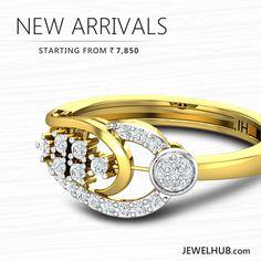 JEWEL HUB - New Arrivals | Starts From Rs. 7,850 /- http://www.jewelhub.com/diamond-rings.html