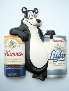 Hamm's Beer Sign Bear Light Vacuform plastic $40