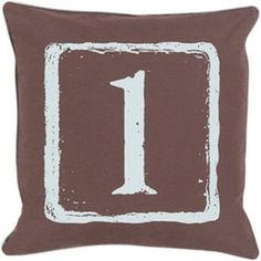 Mike Farrell The One Black and Slate 22-Inch Pillow with Down Fill
