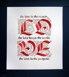 """""""Love"""" calligraphy - Marina Marjina"""