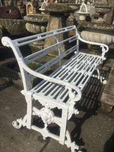 Cast iron Victorian bench # garden statuary