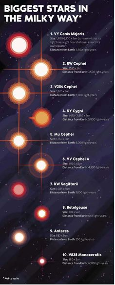 The Biggest Stars in the Milky Way.