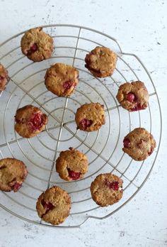 My Sweet Faery: Cookies à la purée de cajou et aux groseilles - Redcurrant cashew butter cookies