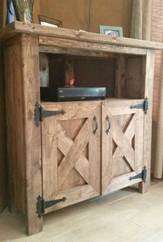 Rustic tv stand for sale rustic corner tv stand in tv console entertainment center dining hutch . Wall Tv Stand, Tv Stand Shelves, Barn Door Tv Stand, Diy Tv Stand, Corner Tv Console, Rustic Tv Console, Corner Tv Cabinets, Console Tv, Corner Hutch