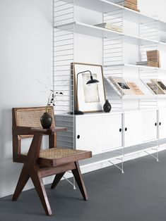string® - The timeless shelving system by the Swedish architect Nils Strinning is a truly minimalistic design icon. The super flexible string® system is equally well suited for the modern home and urban compact living as it is for offices.
